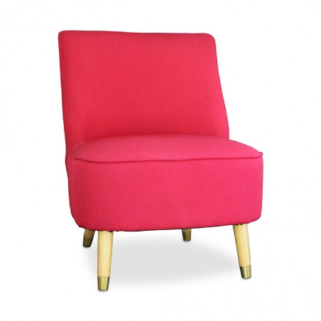 Modena Accent Chair Red Fabric