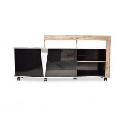 Volt Low TV Cabinet Oak/Black Particle Board