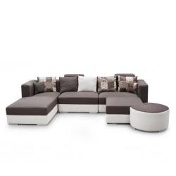 Ontario Sofa Corner Fabric Beige/Brown