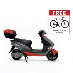 "Speedway E7 Grey/Red 2000 Watt Electric Bike & Free Champion 26"" Bicycle"