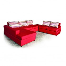 Latonia Sofa Corner Fabric Red