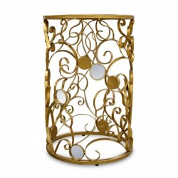 Elise Side Table Metal With...