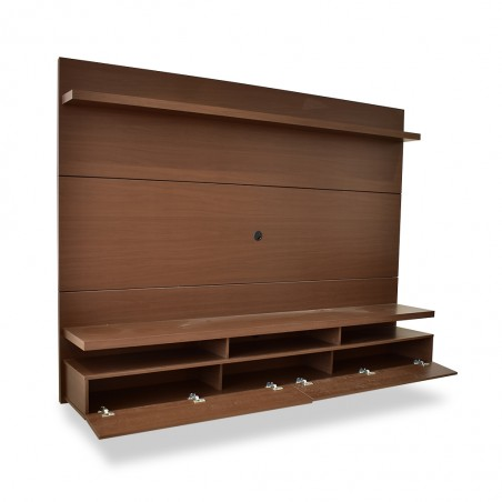 City High TV Cabinet Nat/Brown Particle Board
