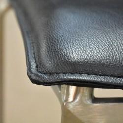 Clivia Barstool Metal Frame/ Black PU Seat