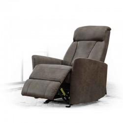 Opera Glide One Seater Grey Fabric