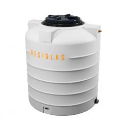Resiglas 2000 Lts Polychrome Water Tank White Snow