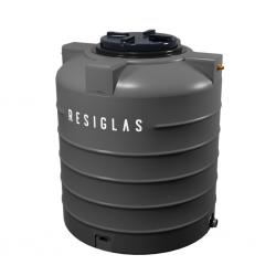 Resiglas 2000 Lts Polychrome Water Tank Grey Stone