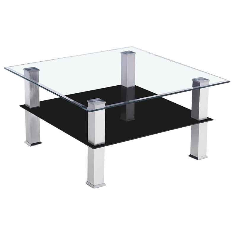 Jovial Coffee Table Chrome Metal/Glass
