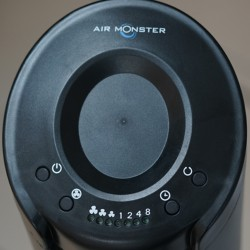 Air Monster 15718R 42'' Black Remote Tower Fan