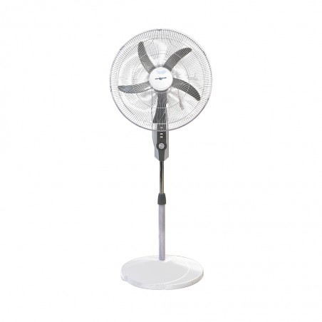 """Air Monster 15593 MG WH 20"""" Stand Fan with Timer"""