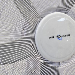 "Air Monster 15593 MG WH 20"" Stand Fan with Timer"