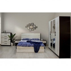 Nyx Bedroom Set 160x200cm Fume PVC & Wenge