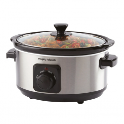 Morphy Richards 461013 6.5L Brushed SS Slow Cooker