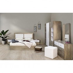 Zoe Bedroom Set 180x200cm Olivio & White Melamine
