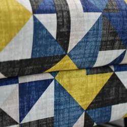 Fenway Ottoman in Fabric Vintage Col