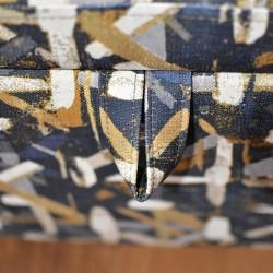 Penington Ottoman in Fabric Splash Indigo