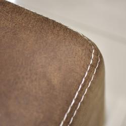 Eiffel Ottoman Shogan Almond Colour Fabric