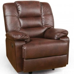 Brusali Amanda One Seater Brown Bonded Leather