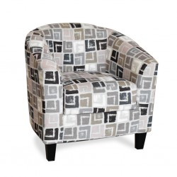 Alvia Accent Chair Quadrant Grey Fabric