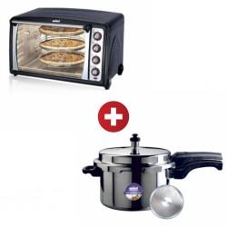 Sanford SF3608EO 70L 2300W 2YW Electric Oven + Sanford SF3255PCIB 3L InductionBase PressureCooker
