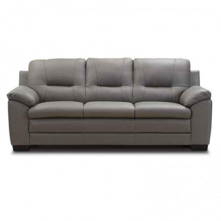 Havana Sofa 3+2+1 Grey Leather/PVC