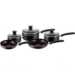 Tefal B372S544 8pcs Essential Black Cookware Set
