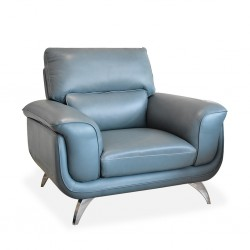 Arena Accent Chair Leather+PVC L.Blue Color