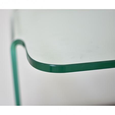 Tania Side Table Metal & Glass Top White