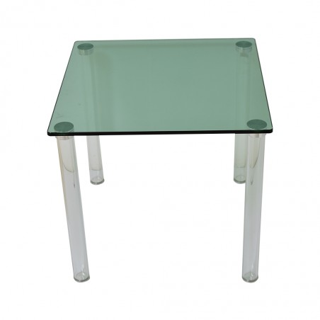 Vitro Side Table Green Glass Top