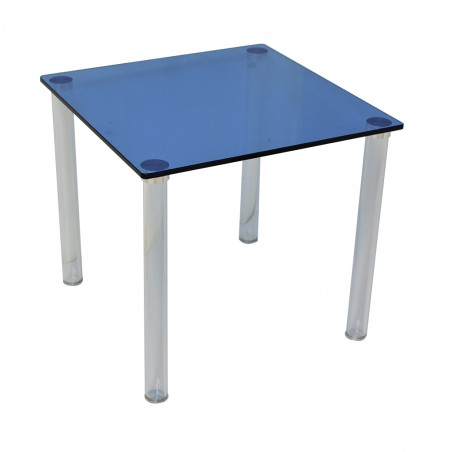 Vitro Side Table Blue Glass Top