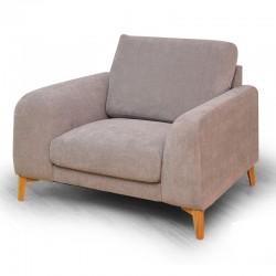 Orlando One Seater Grey Fabric