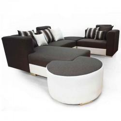 Hamilton Ontario Sofa Corner Fabric Beige/Grey