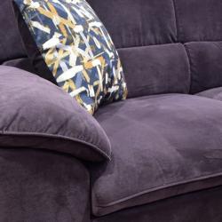 Elson Corner Chaise+LVST in Fabric Purple