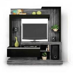 Bravo High TV Cabinet Dark Grey/Black