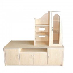 Empire Alpha Low TV Cabinet Oak MDF