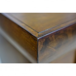Saria Bedside Table Brown Rubberwood/MDF