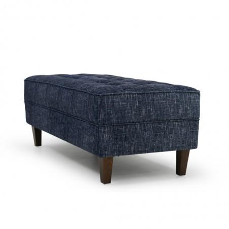 Cove Ottoman In Blue Fabric