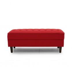 Cove Ottoman Ruby Colour Fabric