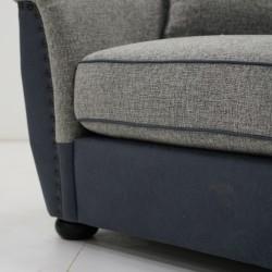 Taraval 1 Seater  D.Blue & Grey Colour Fabric
