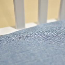 Boris Chair Sky Blue Fabric Seat