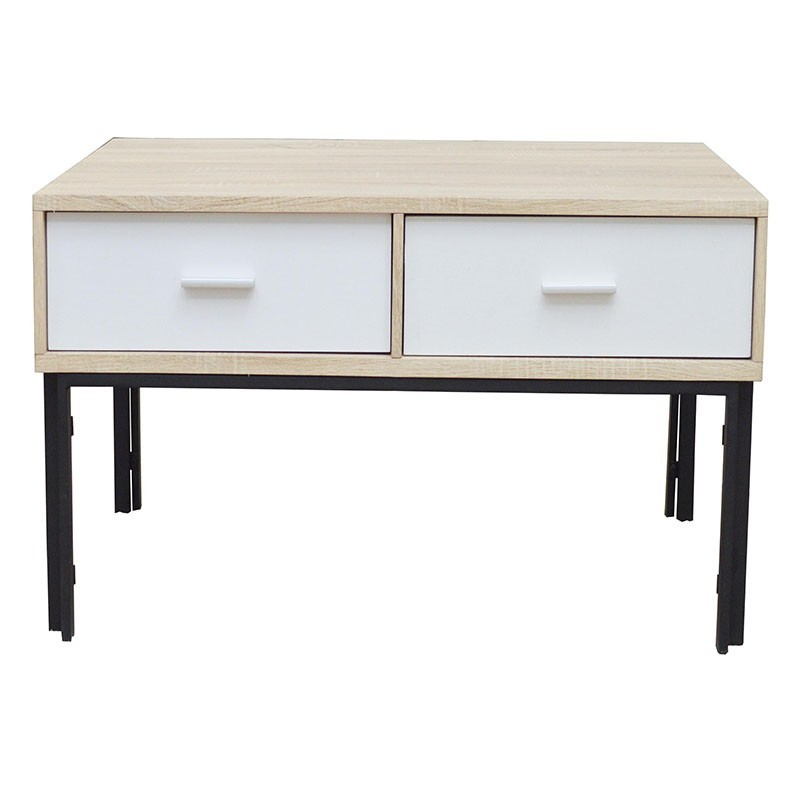 Jessie Coffee Table Black/White MDF