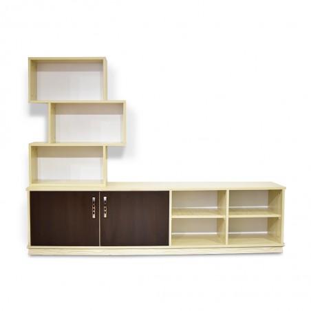 Cube Low TV Cabinet MDF Cream
