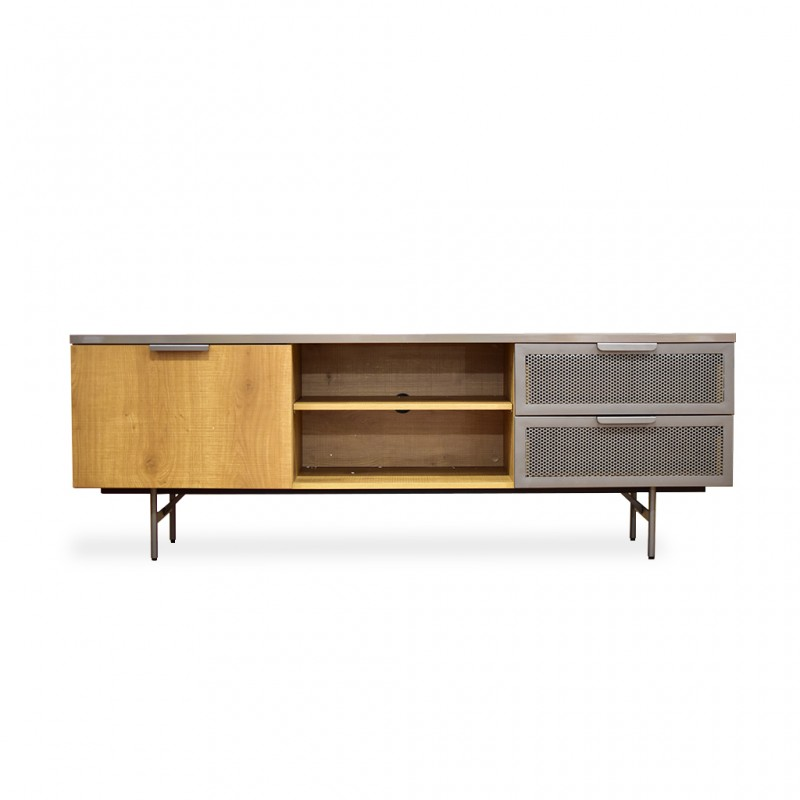 Lucca Low TV Cabinet Stone/Brown PB