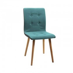 Actona Frida Chair Metal Fabric Blue