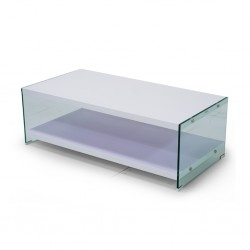 Derby Coffee Table MDF Top/Glass Legs