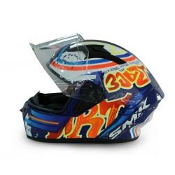 SMK Stellar GL537 blue F/F W/G Helmet 06667