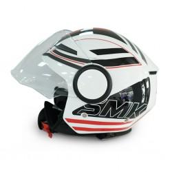SMK Streem GL123 G/White Sonic/G helmet 06675