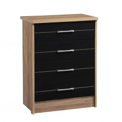Selena Chest of 4 Drawers Summer Oak+D.Grey PB