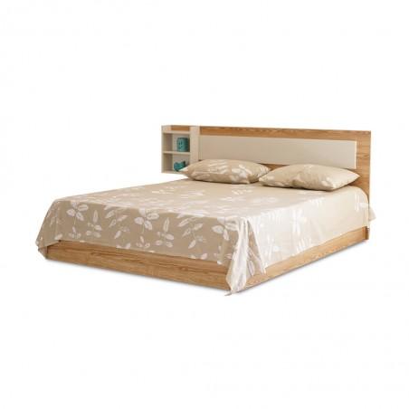 Bethany Bed 160x200 cm Oak / Beige
