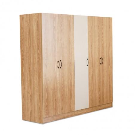 Bethany Wardrobe 5 Doors Oak / Beige